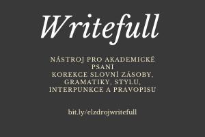 Writefull – nástroj pro akademické psaní